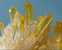 Citrine stone cluster yellow citrine quartz raw cluster 325 gm