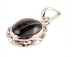 Black agate silver pendant sulemani hakik silver pendant design