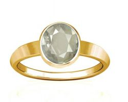 White sapphire gold ring Ceylon White sapphire with gold ring oval