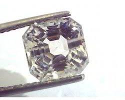 Ceylon White sapphire safed pukhraj square 5.75 carrot