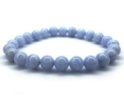 Blue lace agate bracelet natural blue lace agate stone bracelet