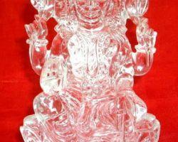 Sphatik laxmi idol pure sfatik laxmi murti 3.25 inches 105 gm
