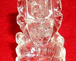 Sphatik laxmi idol pure sfatik laxmi murti 1.5 inches 25gm