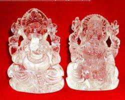 Sphatik laxmi ganesh idol 2 inches