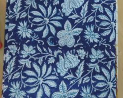 Printed cotton handblock cloth organic vegetable colour dyed indigo print cloth material 1 meter