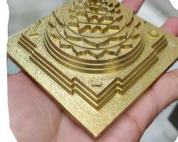 3D Shriyantra panchdhatu meru  cnc cutting shriyantra 3×3 inches