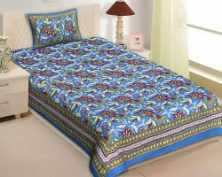 Bedsheet single bed cotton with pillow cover code 2