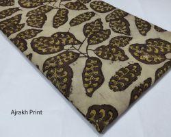 Vegetable dyed handblock ajrakh print Material 1 meter code 3