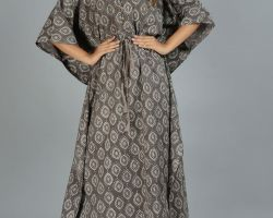 Kaftan long kaftan vegetable dyes handblock print fine cotton code 5