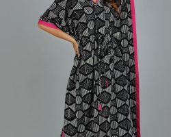 Kaftan long kaftan vegetable dyes handblock print fine cotton code 6