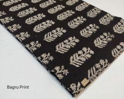 Bagru print cotton handblock dress material black code 2