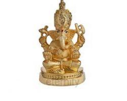 Ganesh idol gold plated 3.5 inches