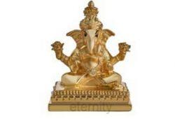 Ganesh idol Silver gold pearl plated ganesh statue ganesh murti  4 inches  inches