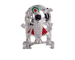 Shrinathji ji idol Silver plated Shrinathji statue 3.5 inches