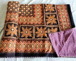Dohar double bed kantha hand work handblock organic dye dohar AC quilt code 1