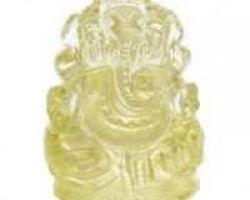 Pukhraj ganesh murti yellow sapphire ganesh idol