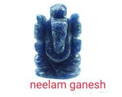 Neelam stone ganesh murti blue sapphire ganesh idol blue sapphire ganesh statue
