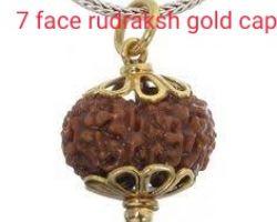 7 face rudraksh with gold cap 7 mukhi rudraksha gold pendant