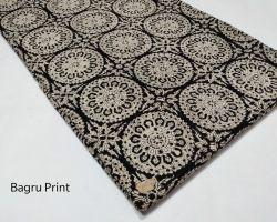 Cotton print running material bagru handblock print running dress material 1 meter