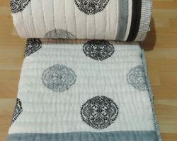 Cotton ac quilt  handblock print pure cotton machine wash quilt double bed code 1