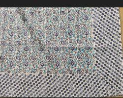 Dohar double bed cotton handblock print Dohar code 5
