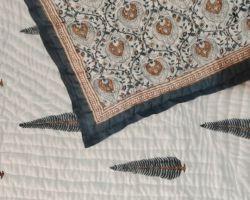 Dohar double bed handblock print cotton double side use code 7