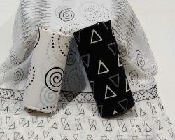 Cotton handblock print suit material with chiffon dupatta code 3
