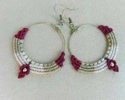 Handmade thread earrings macrum thread earrings code 5
