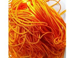 Silk thread orange kesariya Reshmi dhaga 20 meter