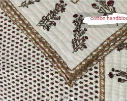 Dohar double bed  handblock print AC quilt double side print code 2