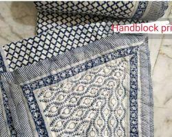 Dohar double bed handblock print cotton double side use code 9