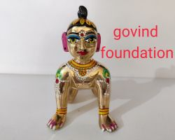Bal Radha idol ashtdhatu radha idol painted baby radha  6 number