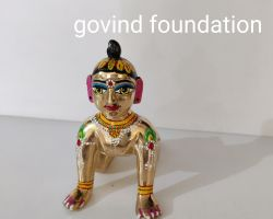 Ashtdhatu bal Radha idol painted baby radha idol 5 number