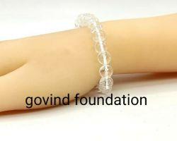 Sphatik bracelet Diamond cut natural Sphatik bracelet 10mm