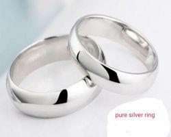 Silver ring pure chandi ka chhalla broad