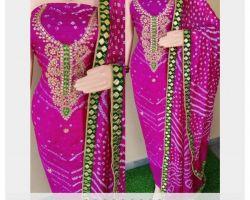 Bandhni suit gota Patti bandhej suit party wear code 5