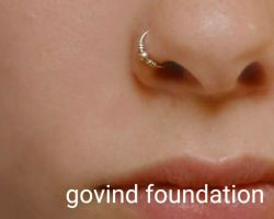Silver nose ring silver hoop nose ring pin manka