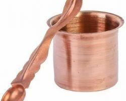 Panchpatra Pooja panchpatra copper achmani and glass