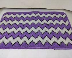 Doormat zigzag purple 22×15 inches