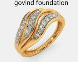 Diamond gold ring code 1