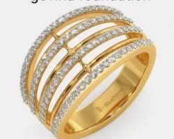Diamond gold ring 18k gold ring with diamond code 2