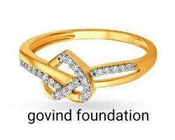 Diamond gold ring heart shape diamond ring