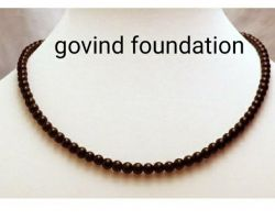Black obsidian necklace black obsidian stone mala black stone mala