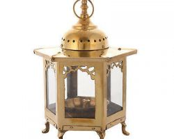 Brass lantern diya brass glass window diya code 5