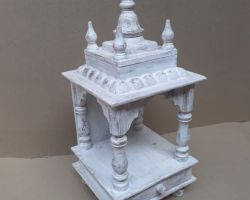 Home temple wooden temple for home white
