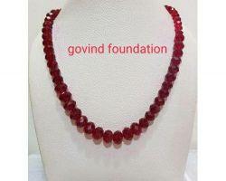 Ruby necklace manik mala ruby mala code 2