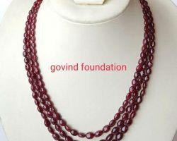 Ruby necklace 3 line ruby necklace manik mala