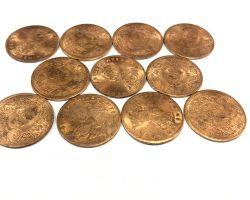Copper coin set of 5 pure copper coin set