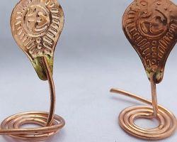 Copper nag nagin set copper snake pair