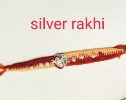 Silver rakhi silver om rakhi chandi ki rakhi